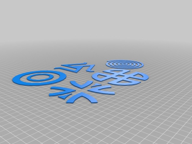 Teen Wolf Symbols By Body 3d Thingiverse