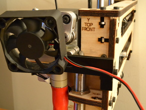 Printrbot 1405 extruder stepper fan holder