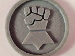 40mm X 4mm Token - Marker of Impieral Fists 40K Bits