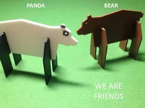 Simple animals 6 - Bear & Panda