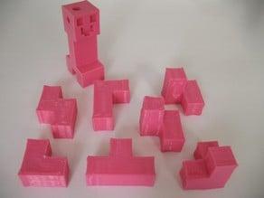 7-Piece Block Puzzle - Minecraft Style
