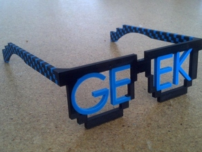 8-bit Geek Glasses for Dual Extrusion
