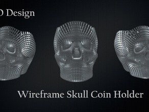 WireFrame Skull Coin Holder