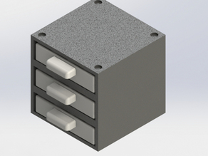 Customizable - Modular - Stacking Parts Storage with Trays