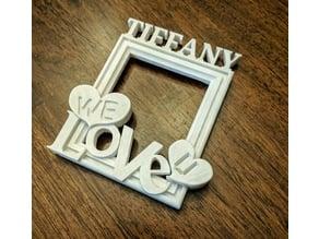 Tiffany - We Love U Photo Frame