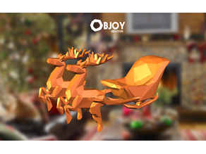 SANTA'S SLEIGH lowpoly - by Objoy Creation