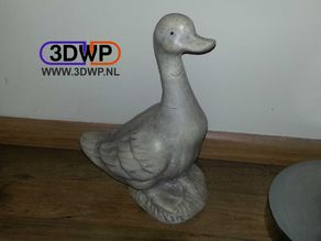 Duck Sculpture 3D Scan