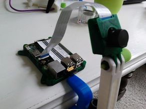 Raspberry Pi Camera case with flexi-mount