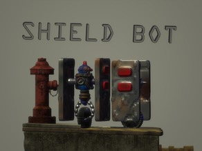 Shield bot by Hyena Lobster