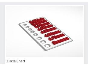 Millimeter Circle Chart