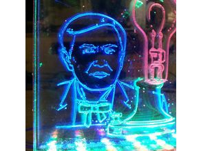 Edison Laser Engrave Led Art