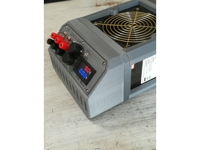 Bigger Front Case for Lab ATX power supply skeleton case
