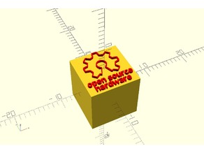 Open Source Hardware logo module for OpenSCAD