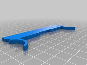 My 3mm Z-Axis shim spacer for 2016 FlashForge Creator Pro (for glass bed, )