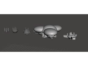 ROBOTECH ROBOTECH EMPIRE OBSERVATION PLATFORMS