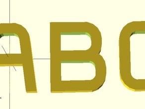 Parametric Round Font