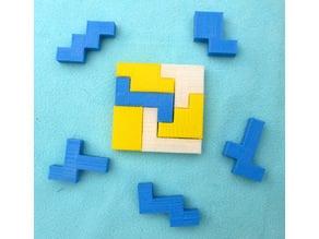 Six Hexomino 6x6 Tiling Puzzles