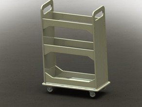 24 x 48 inch material storage cart