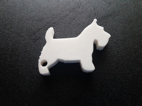 Scottish Terrier Key Fob