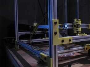 90 deg. angle for 20 x 20 extruded Aluminum