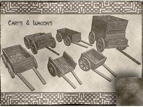 Carts & Wagons for Dungeons & Dragons, Warhammer tabletop fantasy games