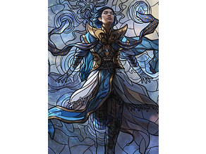 Narset, Parter of Veils - stained glass - litho