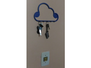 Cloud style key holder