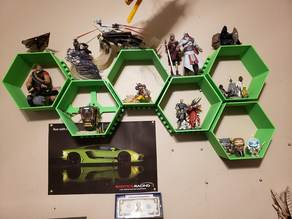wall mounted honeycomb shelves