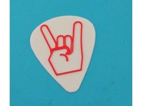 Rock funny guitar pick