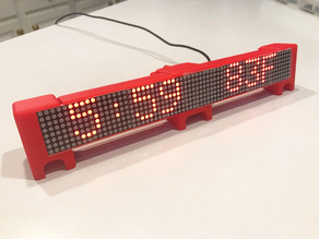 ESP8266 Double Wide Marquee Scroller News Weather Clock