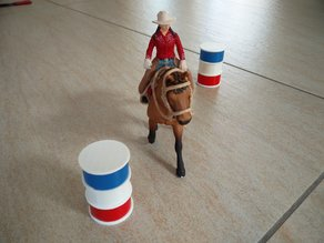 Barrel racing for toy horses