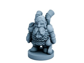 Dwarfclan Tinkerer (18mm scale)