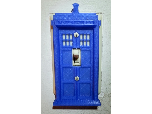 Tardis light switch decorative cover by martinilounge for Tardis light switch cover