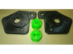 RC Tank adaptor plate for Geared Motors