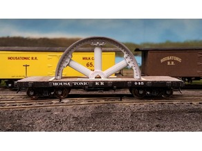 Half-Flywheel HO Scale Flatcar Load