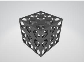 Cube Lattice With Negative Poisson's Ratio