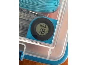 Hygrometer Holder for Sterilite Dry Box