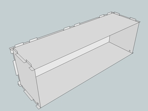Eurorack Lasercut Case 84HP 3U 123mm