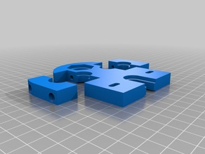 TAZ E3D Dual Extruder Mount add-on plate