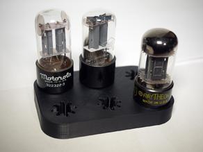 Octal vacuum tube holders - desktop and wall mount versions