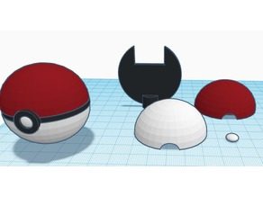 Pokeball ender knob with knob hole in back.