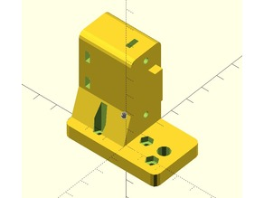Geetech i3 Pro B mount for e3D customizable extruder