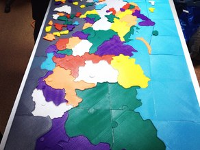 map of Russia, 3D printed, puzzle edition.