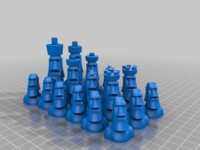 Moai Chess Set