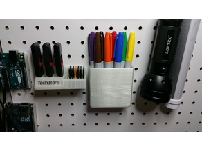 Pegboard Mounted Pen Holder