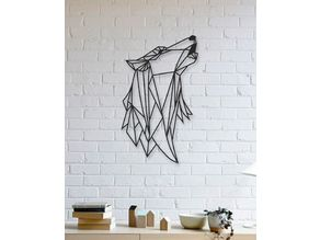 Wolf Wall Sculpture 2D II