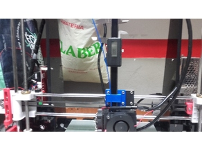 Caliper mount for bed leveling Anet A8+filament guide