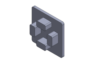 Ponteira - 30x30 - Perfil Aluminium