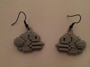 Flappy bird earrings!