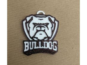 Bulldog Keychain - Football